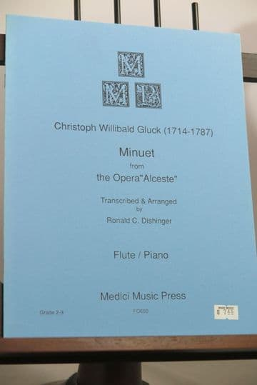 Gluck C W - Minuet from the Opera Alceste for Flute & Piano arr Dishinger R C